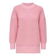 Rippstrick-Pullover in warmem Rosé