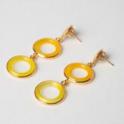 Ohrringe 'Sysha' aus gelbem Achat