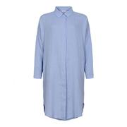 Hellblaues Blusenkleid aus reinem Leinen