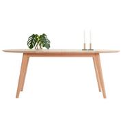 Holztisch 'DK10' zum Ausziehen