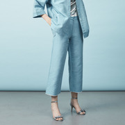 Leinenhose von 'Claudia Nabholz' in Blau