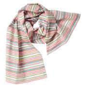 Gestreifter Baumwoll-Schal aus der Schweiz