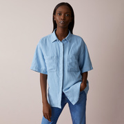 Denim-Leinen-Bluse von 'Closed'
