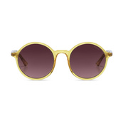 Runde Sonnenbrille 'Madison Yellow'