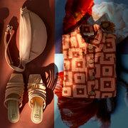 Bequem & cool: Slide 'Alejandra' in Peach