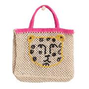 Natürlicher Tasche mit Leopard