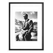 Sean Connery Goldfinger 1964 - Bild mit Holzrahmen / 50 X 70