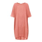Puristisches Oversize-Kleid aus Leinen