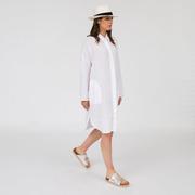 Weisses Blusenkleid aus reinem Leinen