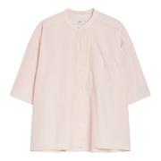 Puristische Halbarm-Bluse in Rosé
