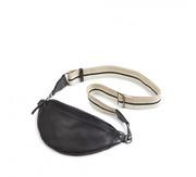 Lederne Bum-Bag mit Streifengurt