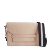 Leder-Crossbody-Bag in warmem Rosé