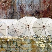 Schirm Klassiker 'Ombrelloni' in Weiß