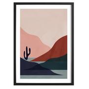 Desert -Bild mit Holzrahmen