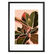 Plant IV -Bild mit Holzrahmen