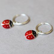 Kleine Kreolen 'Ladybug Hoop'