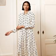 Hemdblusen-Kleid von 'Komana' mit Augenprint
