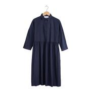 Blusenkleid aus Biobaumwolle in Marine