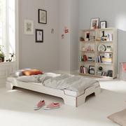 Einzelbett: Stapelliege 'Komfort' mit Schichholzkante
