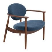 Blaublütiger Sessel 'Roundy'