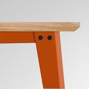 Tisch 'Plog' in Linoleum mit Eichenkante