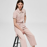 Leichter Denim-Jumpsuit in Rosé