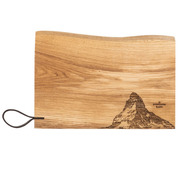 Rustikales Holz-Schneidebrett von 'Panorama Knife'
