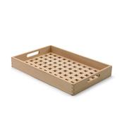 Holz-Tablett mit apartem Gitterboden