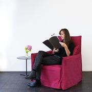 Einzelstück: Sessel 'Ghost' in rot
