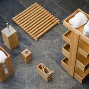 Regal fürs Badezimmer aus Bambus