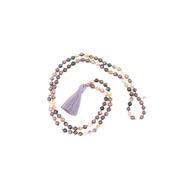 Stimmungsvolle Malakette aus lila Turmalin
