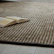 Teppich 'Bilevel' aus Schurwolle und Leinen