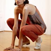 Elegante, rostfarbene Hose Lexi von 'Komana'