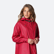 Schwingender Regenmantel in Rot