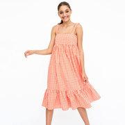 Fröhliches Baumwollkleid mit Vichy Karo