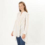 Entspannter Business-Look: Gestreifte Bluse