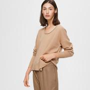 Entspannter Kaschmir-Pullover in Camel