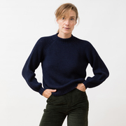 Warmer Strickpulli 'Ximena'  in Navy