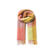 Weicher Karo-Schal aus Wollmischung