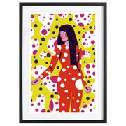 Farbenfrohes Bild 'Kusama' mit Rahmen