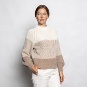 Natürlicher Woll-Pullover mit Streifen von 'Klitmøller'