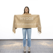 'Hygge'-Schal aus weichem Wollmix in Nature
