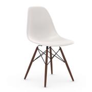Einzelstück: Eames Plastic Side Chair mit Holzuntergestell