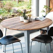 Runder Tisch '6Grad' mit Linoleum