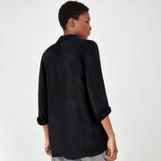 Oversize-Hemdbluse in Schwarz