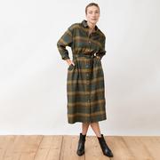 Weichwarmes Flannel-Blusenkleid von 'Jungle Folk'