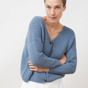 Handstrick-Cardigan von 'Jungle Folk' in Blau