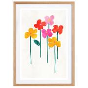 Gerahmtes Bild 'Little Flowers'