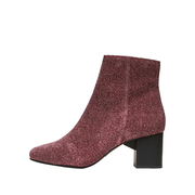 Absatz-Booties mit Lurex in Pink