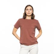 'Closed'-Baumwollshirt in Weiss oder Mahagoni